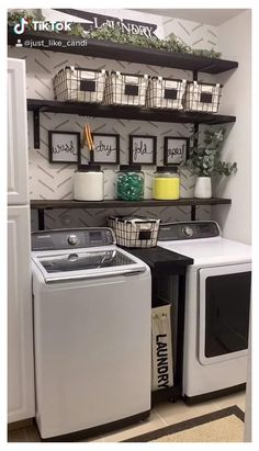 Laundry Room Curtains, Laundry Decor, Small Laundry Rooms, Laundry Room Organization, Laundry Room Design, Laundry In Bathroom, Laundry Detergent Storage, Laundry Closet Makeover, Closet Laundry Rooms