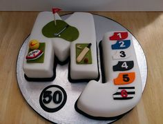 sports themed novelty birthday cake cricket golf rugby football greyhound racing