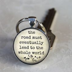 The Road Leads to the Whole World  Literary by TheBlueBlackMonkey, $5.95 Jack Kerouac Quote from The Road