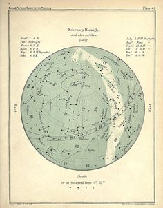 February Constellation Star Chart Popular Guide to the Heavens