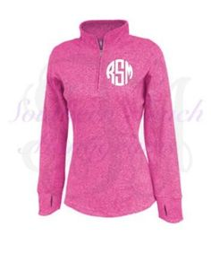 Monogrammed Warm-up Pullover