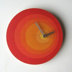 A clock that takes color cues from Josef Albers.
