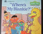 "Vintage Sesame Street ""Where's My Blankie"", a Golden Book featuring Jim Henson's Sesame Street Muppets"