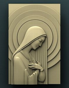 For CNC. Copyrighted STL model for cnc router, compatible with Aspire and Artcam. Mural Wall Art, Mural Painting, Texture Painting, Wood Carving Art, Stone Carving, Wood Art, Catholic Art, Religious Art, Woodworking Logo