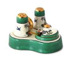 Lusterware Condiment Set Condiment Set by colonialcrafts on Etsy, $21.00