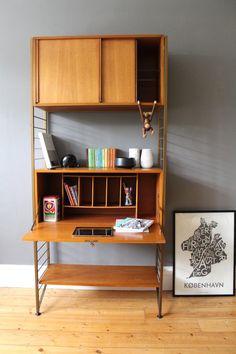 vintage mid century ladderax modular shelving by