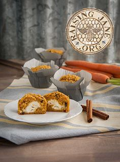 Gluten-Free Carrot Muffins W/Cream Cheese Filling Prep Time: 30 Minutes  Cook Time: 25 Minutes  Makes: 12 Muffins