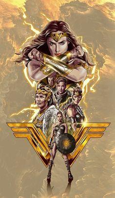 Wonder Woman / Mulher Maravilha, 2017 Source by larissajuliari Wonder Woman Kunst, Wonder Woman Art, Gal Gadot Wonder Woman, Wonder Woman Movie, Superman Wonder Woman, Héros Dc Comics, Gotham Comics, Super Heroine, Free Poster Printables