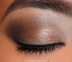 bronze and smokey. Natural and pretty