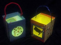 Make a lantern that glows out of a recycled milk carton!