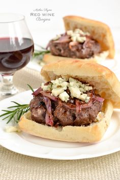 Red Wine Burgers. I made these for Valentine's Day! Hubby said he'd pay for these in a restaurant!
