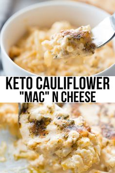 A delicious cauliflower mac and cheese recipe that is low in carbs and keto-friendly! /keto casseroles / keto casserole recipes / low carb casseroles / low carb recipes / #keto #lowcarb Low Carb Keto, Low Carb Recipes, Beef Recipes, Healthy Recipes, Keto Fat, Fudge Recipes, Sausage Recipes, Ketogenic Recipes, Candy Recipes