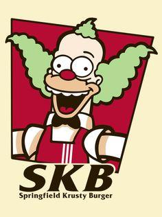 Springfield Krusty Burger by Melonseta The Simpsons, Krusty, Los Simsons, Simpsons Drawings, Simpson Wallpaper Iphone, Futurama, Stickers, Cultura Pop, Kfc