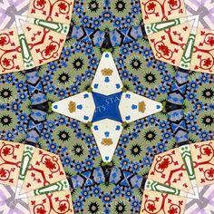 Ceramic decals, kaleidoscope, 750-850ºC, fusible transfers, image transfers, decals for enameling, decals kaleidoscope, decals glassblowing door StainedGlassElements op Etsy