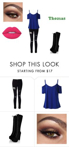 """Thomas 4"" by shadow-killer-101 on Polyvore featuring Miss Selfridge and Lime Crime"