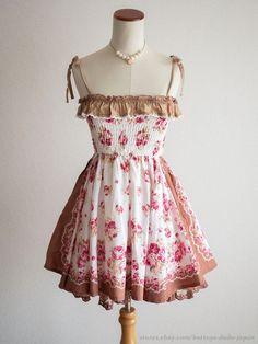 2875997a41e LIZ LISA Moca Bandana Floral Jumper Dress JSK Hime Lolita Kawaii Japan   LIZLISA  JumperdressJSKPeplum