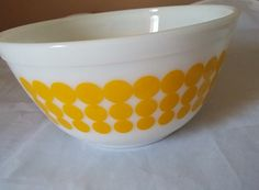 Vintage Pyrex Dots 402 Glass Mixing Nesting by ThisThriftyGirl
