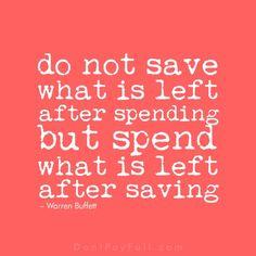 Saving Money Quotes, Best Money Saving Tips, Money Tips, Frugal Living Tips, Frugal Tips, Save Your Money, Ways To Save Money, Warren Buffet Quotes, Finance Tips