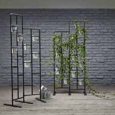 Vertical Metal Plant Stand 13 Tiers Display Plants Indoor or Outdoors on a Balcony Patio Garden or Use as a Room Divider or Vertical Garden Inside Your Home or Great for Urban Gardening (Dark Gray) Indoor Vegetable Gardening, Indoor Garden, Indoor Plants, Outdoor Gardens, Urban Gardening, Balcony Garden, Lawn And Garden, Garden Gates, Herb Garden