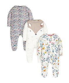 Pretty Forest Sleepsuits - 3 Pack