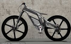 Bit of an open goal this one - straight product story.      Futuristic: Audi used motor racing design principles to build the Audi e-bike Wörthersee which has a host of modern gadgets
