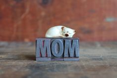MOM vintage letterpress letters great by ReverseChronology on Etsy, $15.00