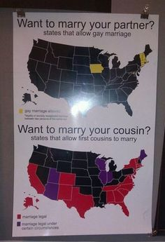 Seriously how wrong is this? Cousin marriage is allowed and gay marriage is not? Seriously!