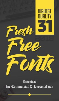 31 Fresh Free Fonts for Graphic Designers 31 Fresh Free Fonts for Graphic Designers Web Design, Graphic Design Fonts, Graphic Design Inspiration, Tool Design, Typography Design, Graphic Designers, Free Fonts For Designers, Design Trends, Design Ideas