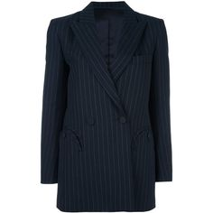 Blazé Milano 'Class' blazer (£1,095) ❤ liked on Polyvore featuring outerwear, jackets, blazers, blue, blue jackets, blue blazer, blazer jacket and blue blazer jacket