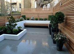 Een schitterende achtertuin ter inspiratie van kleine achtertuinen.