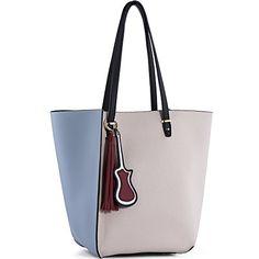 24a2bdf110 Y Women Tote Shoulder Bags Top-handle PU Leather Handbags Purse 2 Piece Set  Light Blue+Gray