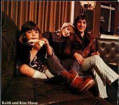 "Keith Moon, Kim Kerrigan, and Amanda ""Mandy"" Moon"