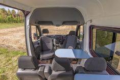 This_Moving_House28 Sprinter Camper, Vw Crafter, Camper Van Conversion Diy, Red Vans, Moving House, Campervan, Motorhome, Car Seats, Camping