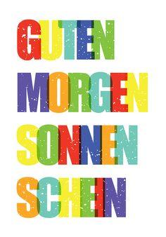 Guten Morgen Sonnenschein, retro Print, Poster - emugallery - Digital printing