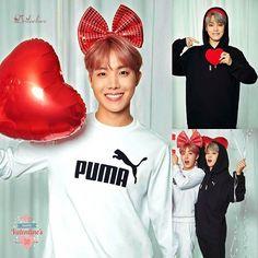 """PUMA X BTS """"Valentine's Day""""  #jhope #hoseok #bts #bangtanboys #jimin #parkjimin #hopemin #jihope"""