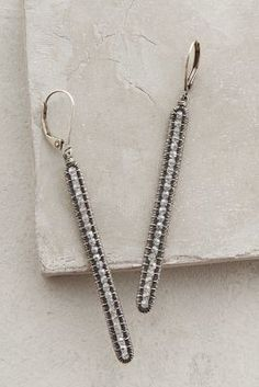 Dana Kellin Frosted Matchstick Earrings #anthrofave #anthropologie