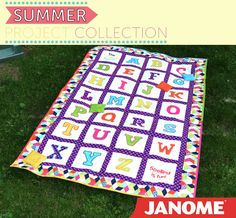This is a great educational quilt made into a game. You will make a quilt with appliqué letters for the alphabet and bean bags. Kelley McKenzie used the Janome Horizon Memory Craft 15000 create this great quilt/game! For complete instructions go to: http://janomespecials.com/extras/summerprojects2014.pdf