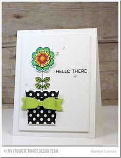Doodled Blooms Card Kit, Coffee Cup Die-namics, Blueprints 17 Die-namics, Blueprints 20 Die-namics - Karolyn Loncon  #mftstamps