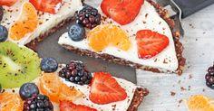 Nepečená ovocná pizza bez mouky a rafinovaného cukru