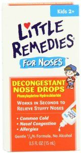 Little Noses Decongestant Nose Drops, Children 2+, .50 fl oz (15 ml) (Pack of 4) by Little Remedies. $11.73. Gentle 1/8% solution works in seconds to relieve nasal congestion. Phenylephrine Hydrochloride. Pediatrician recommended. Works in seconds to relieve stuffy noses; common cold; sinusitis; allergies. Gentle 1/8% formula. No alcohol. Little Remedies products provide the most effective formulas possible to support the health and well-being of your child. When it comes to ...