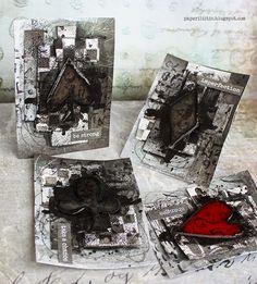 Riikka Kovasin - Paperiliitin: Suits of shapes - Mixed Media Place