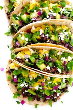 The BEST Black Bean Breakfast Tacos