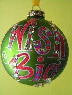 Wish Big Whimsical hand painted ornaments by ToNYaBeSToRDeSiGNS, $17.95