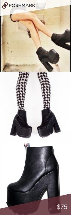 ⚡️YRU Nightmare Platform Booties⚡️ •BaAaAaAaD Betch Status• New In Box!! YRU Shoes