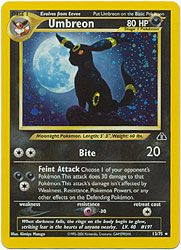 Pokemon Neo Discovery Card 13 - Umbreon Holofoil Card $26.25-$35.00