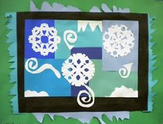 Matisse inspired winter collage