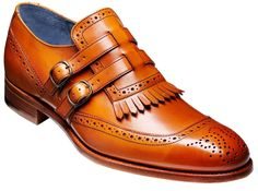 Barker Shoes - Robbins Cedar Calf - Twin Strap Brogue