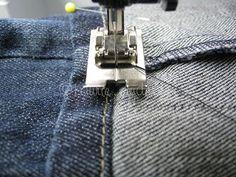 Designer hemming for jeans