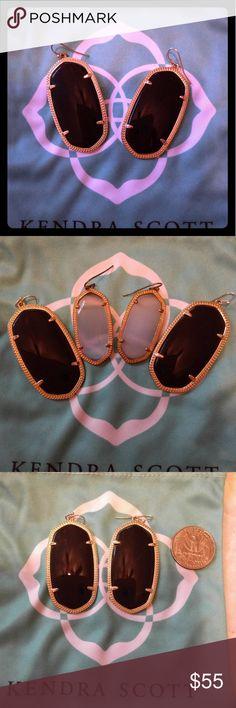 Kendra Scott Black Danielle Earrings Great condition like new Kendra Scott Jewelry Earrings
