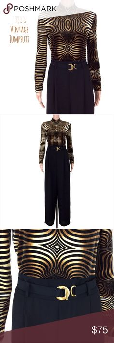 Joseph Ribkoff Animal Print Jumpsuit Size 8 NWOT Joseph Ribkoff Animal Print Jumpsuit Size 8.  New, never worn.  1980s creation. Top portion has stretch to it and feels like velour.  Bottom potion is non stretch polyester.  Zipper back entry. Joseph Ribkoff Pants Jumpsuits & Rompers